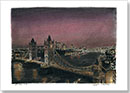Tower Bridge at night - Drawings - Originals for sale