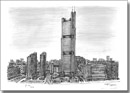 Shardsworld Tower (imaginary drawing) - Originals for sale