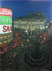 Piccadilly Circus at night - Originals for sale