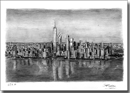 Aerial view of Freedom Tower - Originals for sale