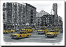 Street scene with New York taxis - Prints for sale