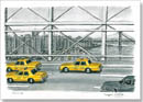 Some New York taxis from Brooklyn Bridge - Originals for sale