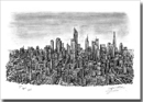 Imaginary Skyline (an ideal city) - Originals for sale