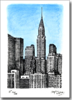 Birds eye view of Chrysler Building NY - Originals for sale