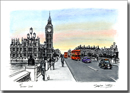 Big Ben and Houses of Parliament from Westminster Bridge