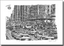 Traffic chaos in New York City - Originals for sale