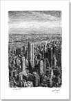 Manhattan Skyline from top of Empire State - Originals for sale