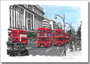 Red buses on Oxford Street - Limited Edition of 100 - Prints for sale