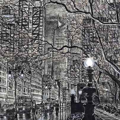 London Metropolis (Limited Edition prints of 75) - Drawings