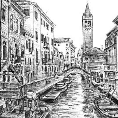 Venice, Italy - Drawings - Originals, prints and limited editions