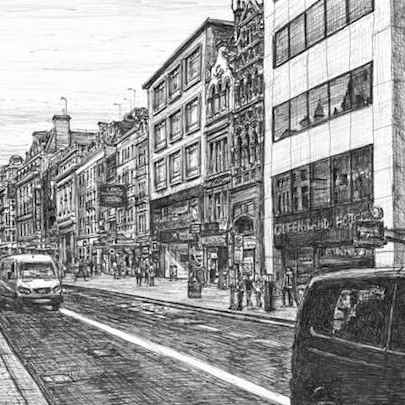Theatreland at the Strand, London - Drawings - Originals, prints and limited editions