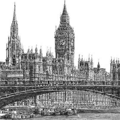 Drawing of Houses of Parliament