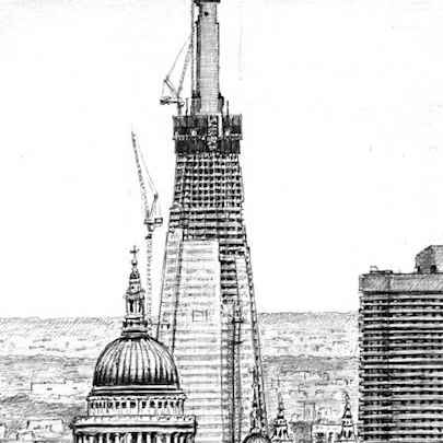 Shard of Glass from Parliament Hill - Original drawings