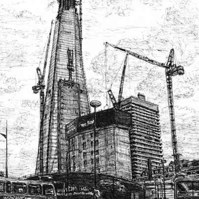 Construction of Shard of Glass London - Original drawings