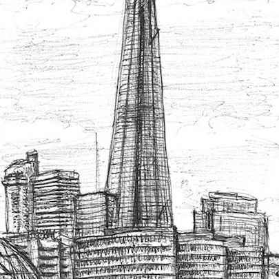 The Shard, London Bridge - Drawings - Original drawings and Architectural Art