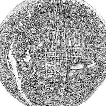 Globe of Imagination - Drawings - Original drawings and Architectural Art