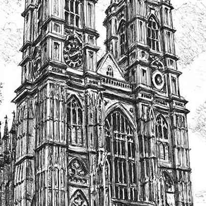 Westminster Abbey - Drawings - Originals, prints and limited editions