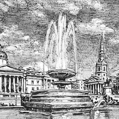 Trafalgar Square - Original drawings