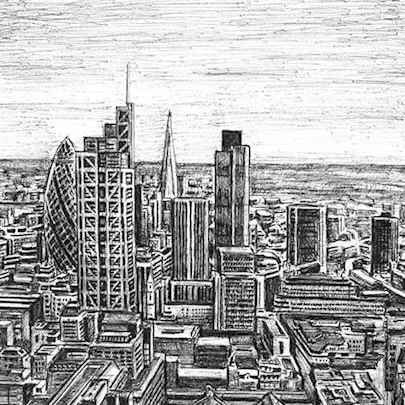 City of London skyline 2013 - Original drawings
