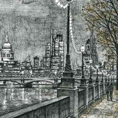 From Southbank on an autumn evening Limited Edition of 75 - Limited editions