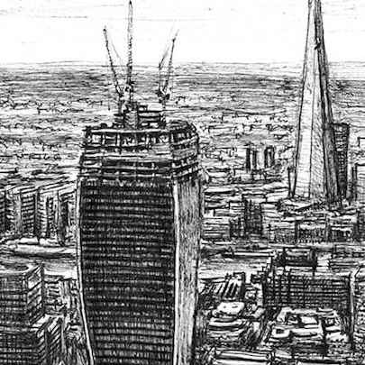 Drawing of Walkie Talkie under construction