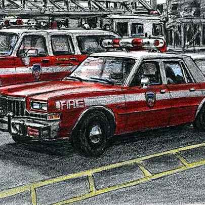 FDNY Chief Officers Car - Original drawings