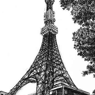 Tokyo Tower - Original drawings and Architectural Art