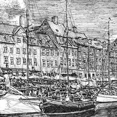 Nyhavn, Copenhagen - Original drawings