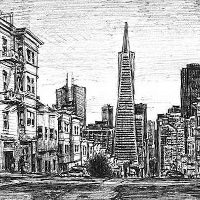 San Francisco street scene - Original Drawings