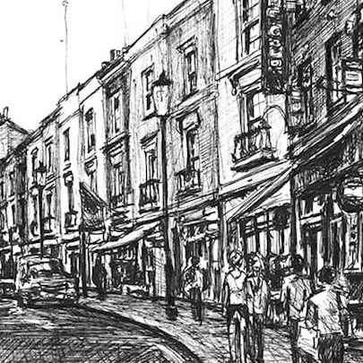 Portobello Road at Notting Hill - Original drawings
