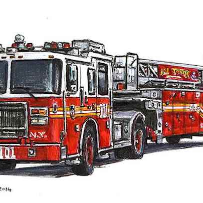 FDNY 2013 Seagrave Tiller Ladder 101 - Original drawings