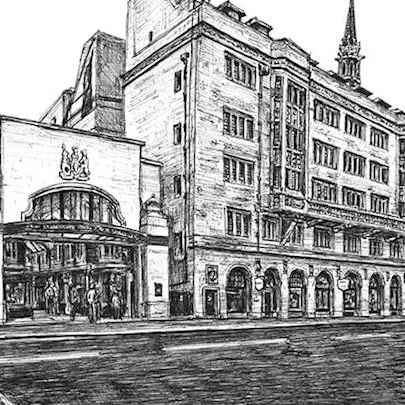 Burlington Arcade, London - Drawings - Originals, prints and limited editions