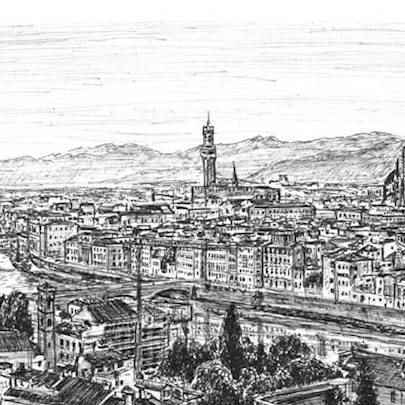 City of Florence - Drawings - Originals, prints and limited editions