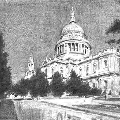 Drawing of St Pauls Cathedral 2014