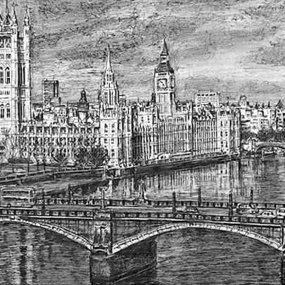 Houses of Parliament 2015 - Drawings - Originals, prints and limited editions