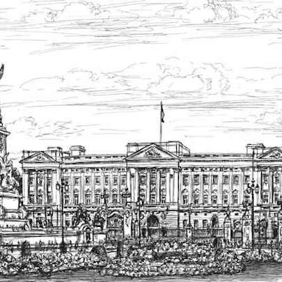 Buckingham Palace - Original drawings