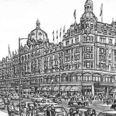 Harrods Knightsbridge - Original drawings