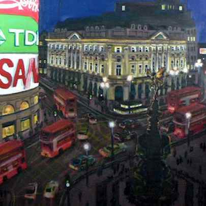 Piccadilly Circus at night - Original drawings