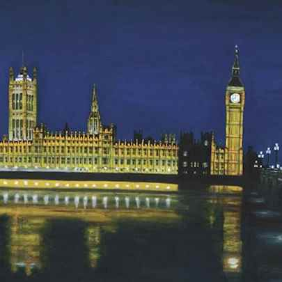 Houses of Parliament at night - Paintings - Gallery