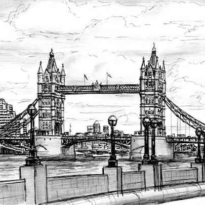 Tower Bridge 2006 - Drawings - Originals, prints and limited editions