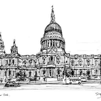 St Pauls Cathedral 2006 - Drawings - Originals, prints and limited editions