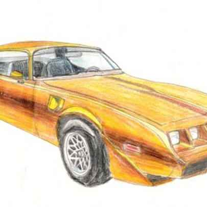 Pontiac Trans Am - Original Drawings