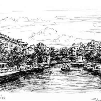 Little Venice - Drawings - Originals, prints and limited editions