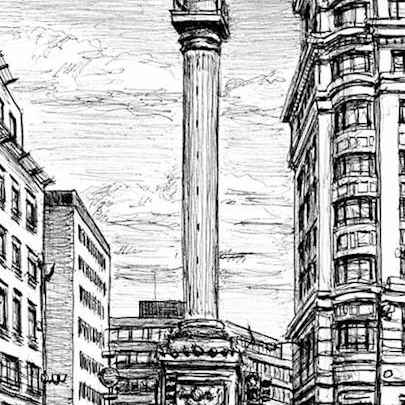 Monument in the City of London - Drawings - Originals, prints and limited editions