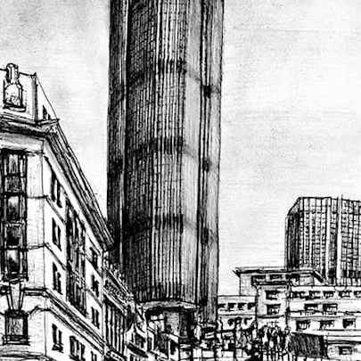 Natwest Tower (Tower 42) - Drawings - Originals, prints and limited editions