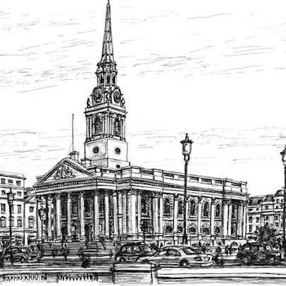 St Martin in the fields - Original drawings