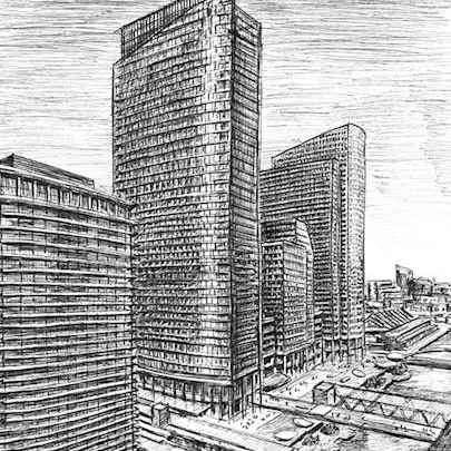 North Quay at Canary Wharf - Original drawings