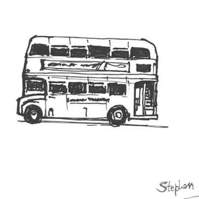 Quick sketch of a London Bus - Drawings - Originals, prints and limited editions