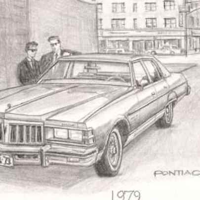 1979 Pontiac Boneville - Original drawings