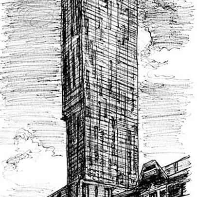 Beetham Tower Manchester - Drawings - Originals, prints and limited editions